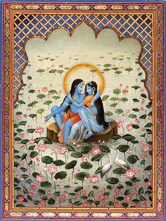 BLUE RADHA-KRISHNA--The Art of Paul Heussenstamm
