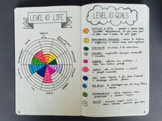 Level 10 life & level 10 goals - p o w a bullet journaling +