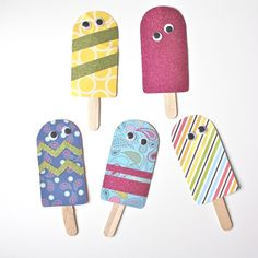 DIY Paper Popsicles w/ free template.
