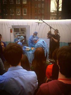 Twitter / ChetanKhatri2: Simulated surgery outdoors ...