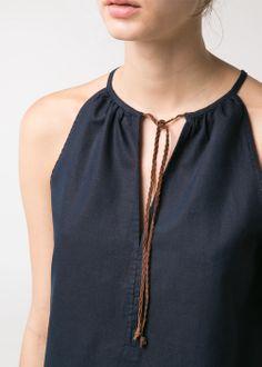 Cord halter dress