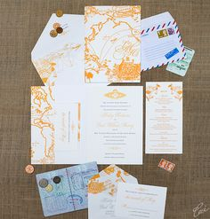 Hailey and Chad Destination Wedding Invitations by Ceci New York
