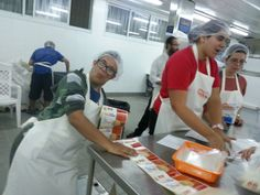 We took great pride in packing food for the less fortunate at Pantry Packers.