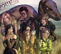 The Runaways: Karolina Dean, Alex Wilder, Chase Stein, Compasión, Nico Minoru, Molly Hayes & Gertrude Yorkes.