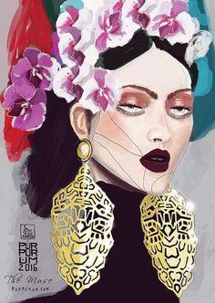 Frida illustration for Calendar 2016