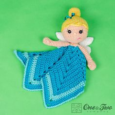 Ravelry: Ella the Fairy Lovey Security Blanket pattern by Carolina Guzman