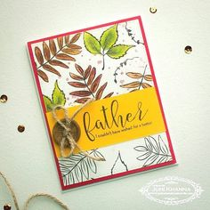This one's for my dad. Masculine cards are not really my thing 😓 this took me a long time to make! Concord And 9th, Fathers Day Cards, Masculine Cards, Best Dad, Take My, My Dad, Cardmaking, Stamping, Dads