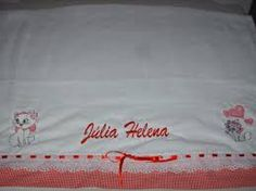 Resultado de imagen para toalha fralda bordada