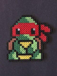 TMNT Raphael  perler bead sprite by Kelsey Rushing
