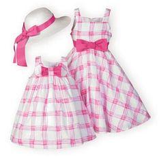 Pretty Pink Plaid Dress