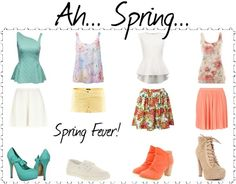 """""""Ah... Spring..."""" by zeradidi ❤ liked on Polyvore"""