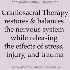 Another simple, accurate description of Craniosacral Therapy.