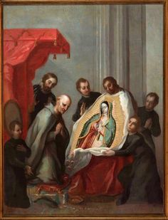 Impresión de la tilma. S. XVIII Colonial Image, Colonial Art, Catholic Altar, Catholic Religion, Catholic Crafts, Mexican Paintings, Latino Art, Christ The King, Mama Mary