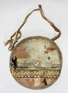 George Catlin Diameter:     54.5cm     Sioux     (Not certain)     Micmac (Mi'kmaq) Upper Missouri River, Dakota Territory Accession Date:     1881-Oct-21