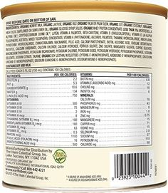 Earth's Best Organic Infant Formula with Iron, 23.2 Ounce (Pack of 4) Earth's Best . Healthy milk-based supplement or alternative to breast feeding Contains DHA and ARA nutrients found in breast milk Easy to make, just combine with water USDA certified organic No artificial colors, no artificial flavors, and no preservatives