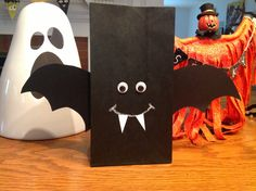 Bat bag Halloween kids craft