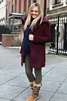 Sorel Snow Boots with this outfit... <3