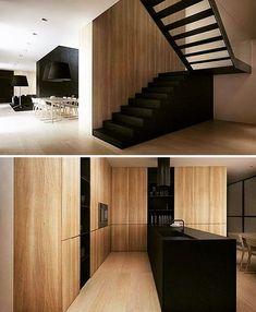 Tamizo Architects - P house interior Interior Stairs, Home Interior, Interior Design Kitchen, Modern Interior, Interior Architecture, Interior And Exterior, Interior Colors, Minimalist Interior, Scandinavian Interior