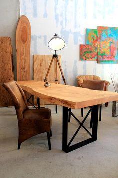 Massivholztisch Holztisch Esstisch Naturholztisch Designertisch Baumtisch unverleimt Libanon Zeder ein Stück Tischplatte Massivholztisch nach Maß | Holzwerk-Hamburg