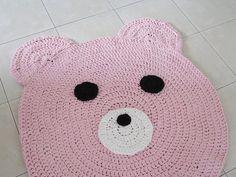 Bear rug  kids rug  crochet carpet  doily rug  girl | Etsy