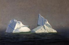 Icebergs by William Bradford, Oil on board William Bradford Icebergs Oil on board x cm x New Bedford Whaling Museum (New Bedford, United States) William Bradford, Ashcan School, Hudson River School, Oil Pastel Art, Reproduction, Art Database, Traditional Art, Landscape Paintings, Kunst