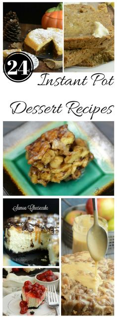 24 of the Best Instant Pot Desserts If you are like me and recently made the leap to a pressure cooker, then this roundup of24 of the Best Instant Pot Desserts is just for you. I searched the web for Instant Pot desserts and here is what I found. The Instant Pot …