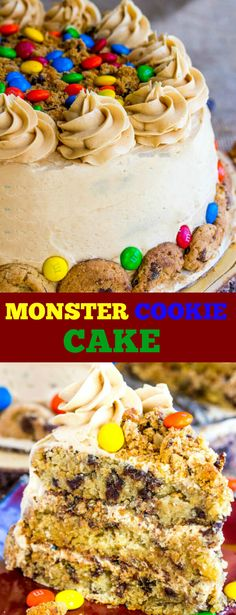 One of the most loved cookies gets a face lift with this moist and delicious Monster Cookie Cake. A fun delicious spin on a classic treat!