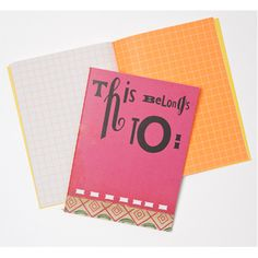 Stationery Addiction: When I'm at the drafting or plotting stage of writing (usually about a third of the way in), I'm drawn to squared graph sheets and jotters.  I love this notebook by Sara Fanelli - lovely colourful graph squares without the 'mathsy' feel to it.
