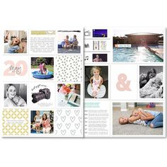Sometimes you walk away from a layout planning to make it better later and sometimes you just don't fix it and share it on the internet instead. #projectlife #digitalprojectlife #9x12 #pocketpages