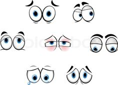 Stock vector ✓ 11 M images ✓ High quality images for web & print   Set of cartoon funny eyes for comics design