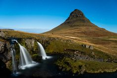 Kirkjufell is a mountain that rises out of the sea in the town of Grundarfjörður, on the Snæfellsnes peninsula in the west of Iceland.