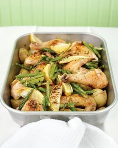 "See the ""Roast Chicken with Potatoes, Lemon, and Asparagus"" in our Asparagus Recipes gallery"