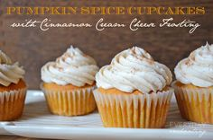 Sweet Treat Tuesday:: My Favorite Pumpkin Spice Cupcakes with Cinnamon Cream Cheese Frosting   EverydayEnchanting.com