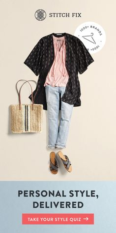 """ to a Personal Stylist with Stitch Fix and make this your most stylish season yet. We'll send you 5 perfect pieces to try on at home. Keep your favorites and send back the rest. Shipping, returns and exchanges are always free. Look Fashion, Autumn Fashion, Fashion Tips, Fashion Design, Fashion Trends, Womens Fashion, Spring Fashion, Latest Fashion, Kids Fashion"