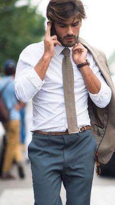 Knit tie, great colour palette.