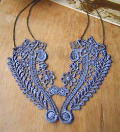 Floral Lace Lavender Necklace. $42.00, via Etsy.