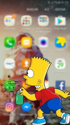 The Simpsons Homer phone wallpaper background for iPhone and Android iPad.