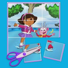 Dora and Boots Ice Skating Puzzle