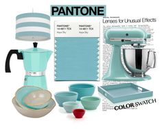 """""""Pantone"""" by pamela-802 ❤ liked on Polyvore featuring interior, interiors, interior design, home, home decor, interior decorating, KitchenAid, Crate and Barrel, Pantone and Oilo"""
