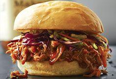Sandwich de porc effiloché à l'érable sauce au #whisky #SaintPatrick
