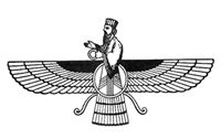 Zoroastrian symbol; Zoroastrianism is the ancient, pre-Islamic religion of Persia. It survives there in isolated areas but more prosperously in India, where the descendants of Zoroastrian Persian immigrants are known as Parsis, or Parsees. In India the religion is called Parsiism.