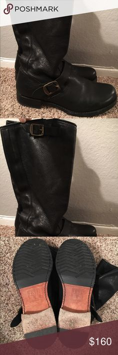 Frey Veronica Slouch Boots Worn 5 times max. Excellent condition slouche boots in black. Bought for over $300. Size 10! Frye Shoes Combat & Moto Boots