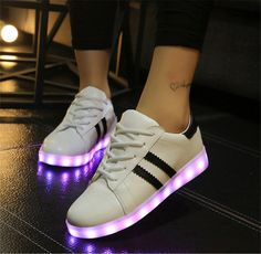 fffd4989afe 8 Colors 2015 new LED Emitting Luminous shoes Casual Shoe sapato de luz Men  Women tenis Sneakers USB Charging Lights shoes