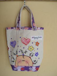 https://flic.kr/p/bo92xD | Tote Bag - Bolsa 0003 - C | Tote bag confeccionada em Lona e forrada com tecido 100% algodão . Pintada .  Medidas: 26x27x5 cm