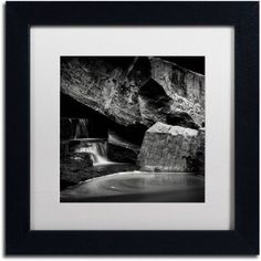Trademark Fine Art Whirlpool Canvas Art by Dave MacVicar, White Matte, Black Frame, Size: 11 x 11