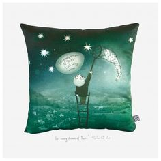 "For every Dream of Yours ""- Satin glossy luxurious artistic throw pillow cover – Modern pillow case – artistic cushion cover."