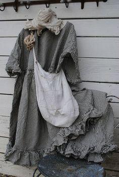 Love the ticking fabric