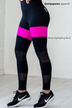 "New black leggings with the long awaited booty legging! Our special ""booty highlighting band"" of fabric, is designed to hit right below your booty, accentuating your assets, and features an extra high ""muffin top preventing"" seamless waistband and luxurious feel. These black leggings are the best! Show off your toned booty with our booty highlighting band! Great for a workout, these cute athletic leggings will hold up to your intense workouts! #blackleggings #yogapants #meshleggings"