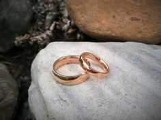 Personalized Custom Hand Engraved Mens or Womens Rose Gold Titanium couple wedding ring. Purchase ONE or TWO to make a matching set