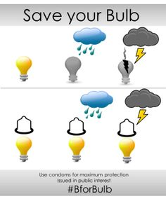Use condoms for maximum protection #BforBulb